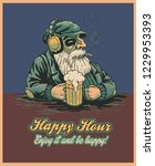 design poster happy hour with... | Shutterstock .eps vector #1229953393