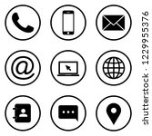 contact icons. web icon set.... | Shutterstock .eps vector #1229955376