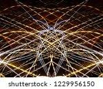 symmetrical colorful light...   Shutterstock . vector #1229956150