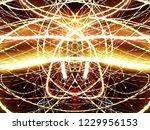 symmetrical colorful light...   Shutterstock . vector #1229956153
