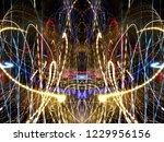 symmetrical colorful light...   Shutterstock . vector #1229956156