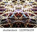 symmetrical colorful light...   Shutterstock . vector #1229956159