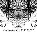 grunge black ink paint.isolated ...   Shutterstock . vector #1229963050