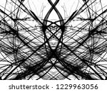 grunge black ink paint.isolated ...   Shutterstock . vector #1229963056