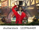 a horror character outside a... | Shutterstock . vector #1229964409