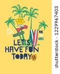 surf illustration t shirt... | Shutterstock .eps vector #1229967403