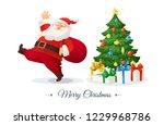 merry christmas card. cartoon... | Shutterstock .eps vector #1229968786