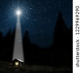 the star indicates the... | Shutterstock . vector #1229969290