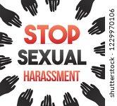 stop sexual harassment concept | Shutterstock .eps vector #1229970106