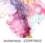 alcohol ink texture. fluid ink... | Shutterstock . vector #1229970610