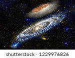oumuamua is a mildly active... | Shutterstock . vector #1229976826