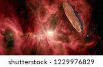 oumuamua is a mildly active... | Shutterstock . vector #1229976829