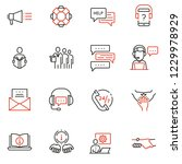 vector set of linear icons... | Shutterstock .eps vector #1229978929