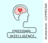emotional intelligence concept | Shutterstock .eps vector #1229981560