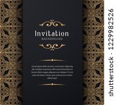 greeting card invitation gold... | Shutterstock .eps vector #1229982526