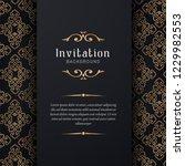 greeting card invitation gold... | Shutterstock .eps vector #1229982553