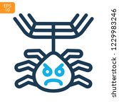 spider web thin line icon....   Shutterstock .eps vector #1229983246