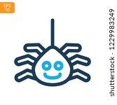 spider web thin line icon....   Shutterstock .eps vector #1229983249