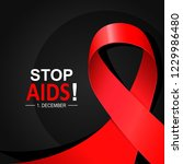 aids word day. 1st december the ... | Shutterstock .eps vector #1229986480