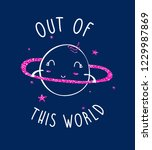out of this world slogan and... | Shutterstock .eps vector #1229987869