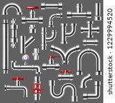 pipe vector plumbing pipeline...   Shutterstock .eps vector #1229994520