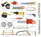 saw vector sawing equipment... | Shutterstock .eps vector #1229994526