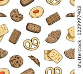 seamless pattern of delicious... | Shutterstock .eps vector #1229997403