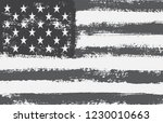 black and white american flag... | Shutterstock .eps vector #1230010663