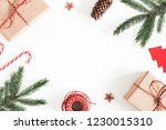 christmas composition.... | Shutterstock . vector #1230015310
