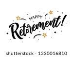 happy retirement. beautiful... | Shutterstock .eps vector #1230016810