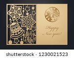 template christmas cards for...   Shutterstock .eps vector #1230021523