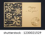 template christmas cards for... | Shutterstock .eps vector #1230021529