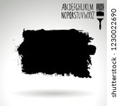 black brush stroke and... | Shutterstock .eps vector #1230022690