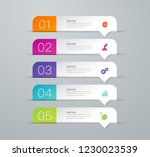 infographics design vector and... | Shutterstock .eps vector #1230023539