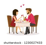 married couple having romantic... | Shutterstock .eps vector #1230027433
