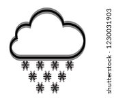 snow cloud icon for web and... | Shutterstock .eps vector #1230031903