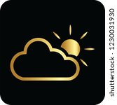 sund and cloud golden icon for... | Shutterstock .eps vector #1230031930