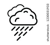 rain cloud icon for web and... | Shutterstock .eps vector #1230031933