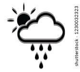 cloud rains and sun icon for... | Shutterstock .eps vector #1230032323