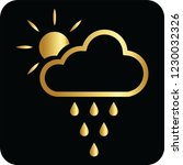 cloud rains and sun golden icon ... | Shutterstock .eps vector #1230032326