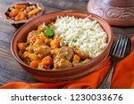 traditional tajine dishes ... | Shutterstock . vector #1230033676