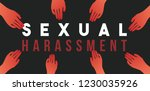 sexual harassment concept | Shutterstock .eps vector #1230035926