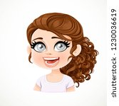 beautiful  touched cartoon... | Shutterstock .eps vector #1230036619
