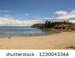 titicaca lake saw fro the sun... | Shutterstock . vector #1230043366
