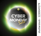 cyber monday sale circle banner.... | Shutterstock .eps vector #1230049279