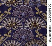 vector seamless pattern. indian ... | Shutterstock .eps vector #1230059500