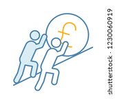teamwork color icon.... | Shutterstock .eps vector #1230060919