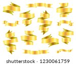 vintage hand drawn folded... | Shutterstock .eps vector #1230061759