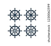 ship wheel vector icon. ship's... | Shutterstock .eps vector #1230062599