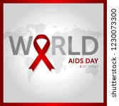 1 december world aids day... | Shutterstock .eps vector #1230073300